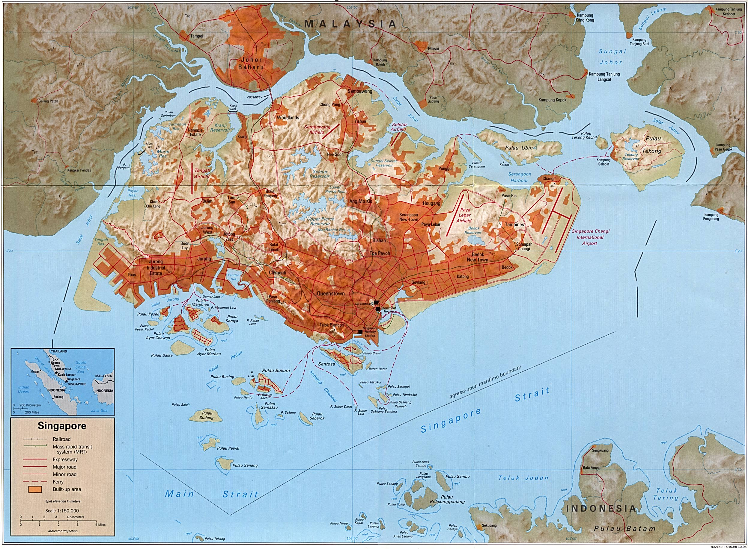 Large detailed relief map of wayfarer foothills map interopporg shaded relief map of singapore large 1994 sr sn 1994 sr sn 1994jpgtitleshaded publicscrutiny Images
