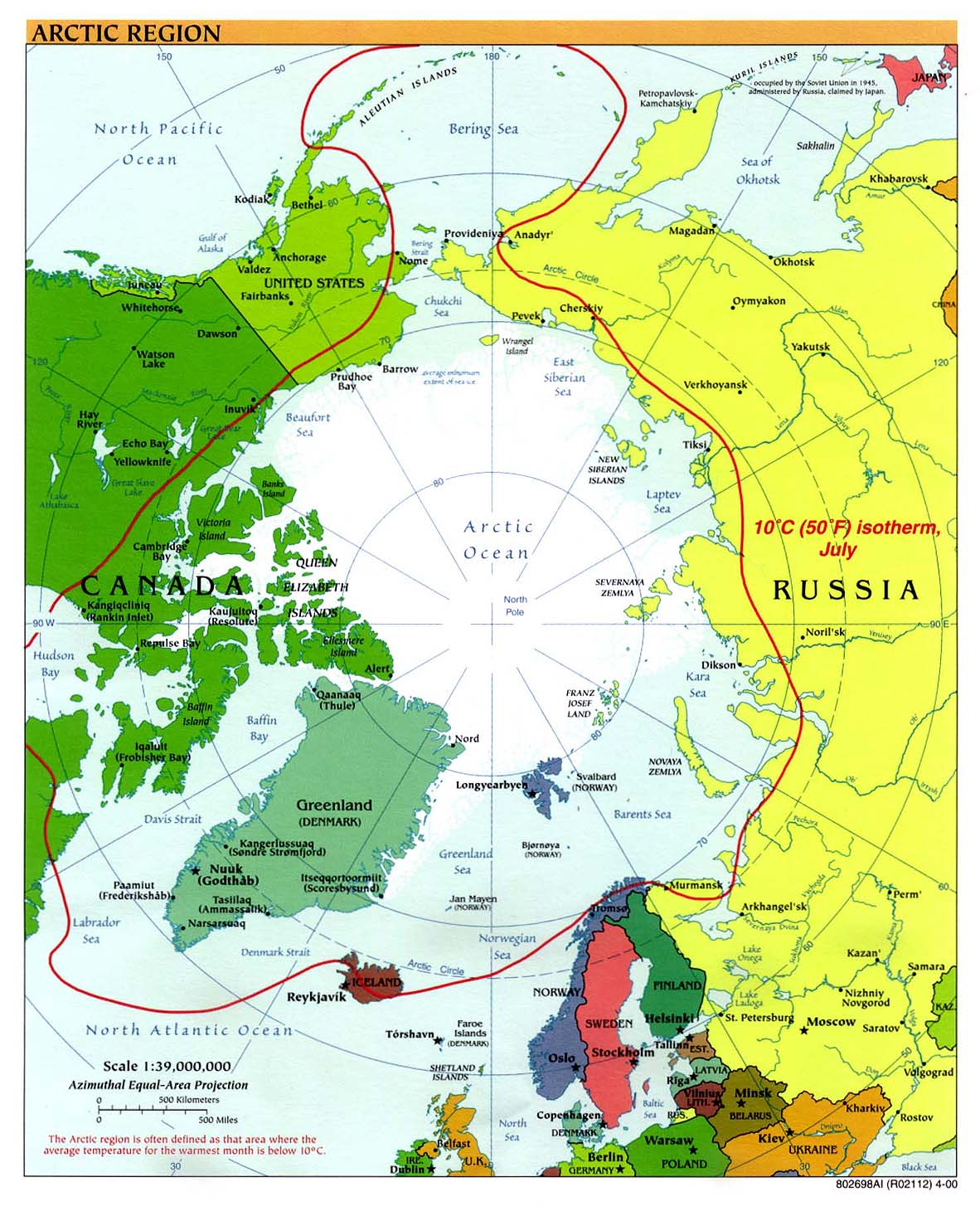 InterOpp.org - Physical map of the Arctic Region, large, 2000
